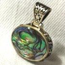 Abalone Paua Shell Sterling Silver Pendant - New