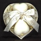 Lenox Heart Shaped Dish with Bath Soap Hearts & Ribbon, New from 2000, Valentine Gift