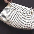 Vintage ELKA Enameled Mesh Purse with Linen Lining