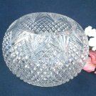 Brilliant Cut Glass Rose Bowl Antique Lead Crystal
