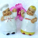 Mini Mammy and Chef Salt & Pepper Shakers Black Americana