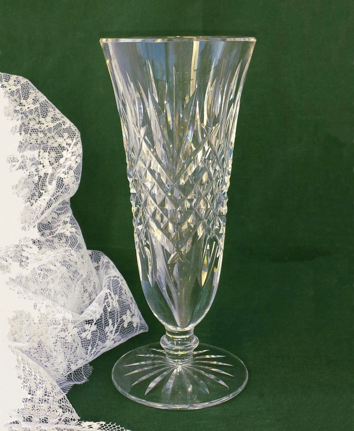 Signed Waterford Cut Glass Bud Vase Made in Ireland