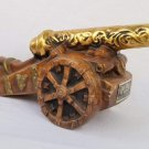 Ezra Brooks Cannon Decanter with Gold Barrel 1969 Empty