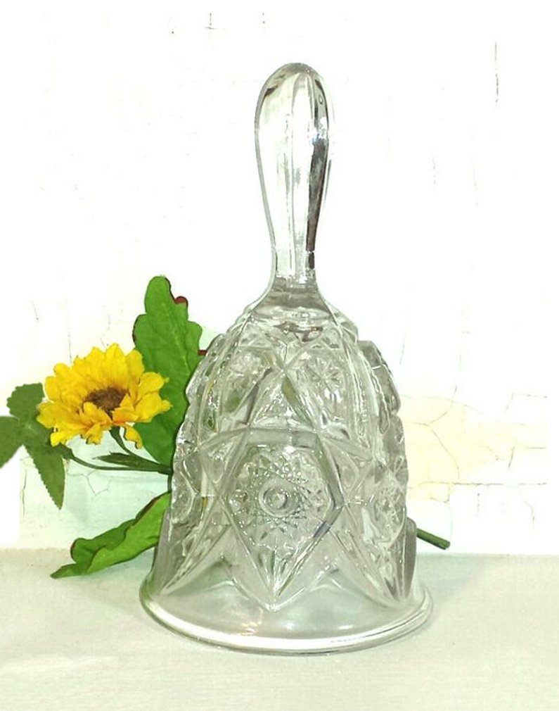 Imperial Crystal Pressed Glass Dinner Bell Circa 1904-1920