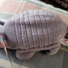 TY Tank the Armadillo Beanie Baby 4th Generation MWMT Retired with Tag Errors