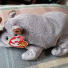 TY Spike the Rhino Beanie Baby Retired New MWMT
