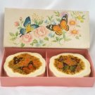 Avon Butterflies and Blossoms Soaps with Box Vintage Bath Soap
