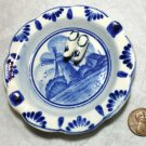 Delft Style Windmill Ashtray with 3-dimensional 'Wooden' Shoes Kitschy Collectible Free Ship in U.S.