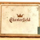 Chesterfield Cigarette Tin Liggett & Myers Tobacco Co. Vintage Tobacciana Free Ship in U.S.