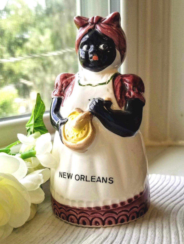 Souvenir Mammy Bell New Orleans Black Americana - Free Ship in U.S.