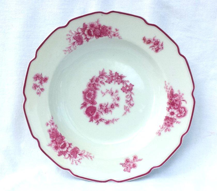 Limoges Porcelain Flat Soup Bowl (s) Tressemann & Vogt France Circa 1912