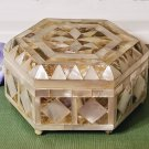 Mother of Pearl and Paua Shell Inlay Jewelry Box