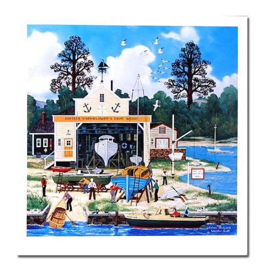 Limited Edition Lithograph Salem Shipyard by Jane Wooster-Scott