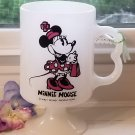 Minnie Mouse Milk Glass Pedestal Mug Walt Disney Productions
