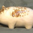 Vintage Spongeware Piggy Bank 5.75 inch Primitive Folk Art Antique Pig Circa 1900-1930