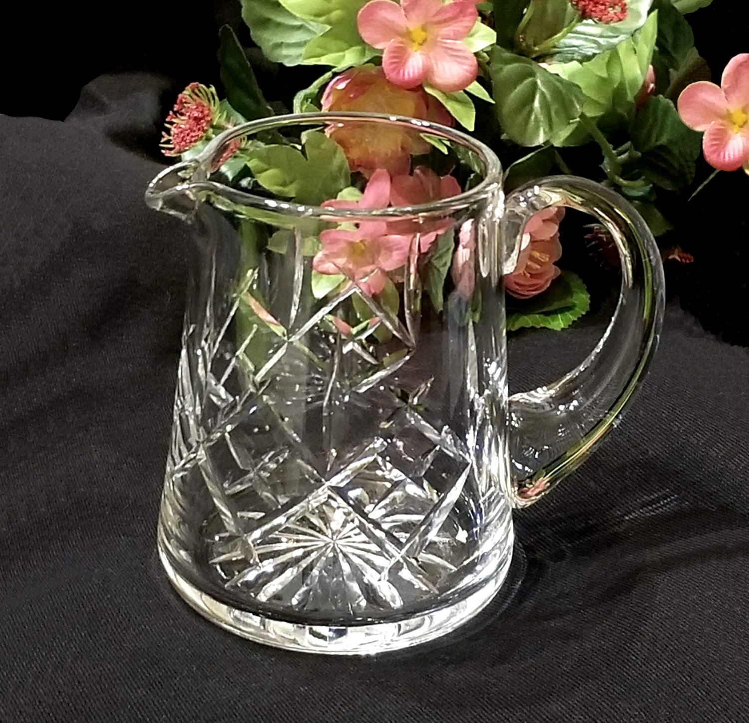 Signed Thomas Webb Cut Glass Pitcher - Made in England