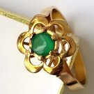 Vintage 18 KT Gold Chrysophrase Ring 18kt Chrysoprase Estate Piece