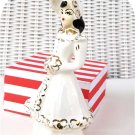 Girl Figure with Big Hat and Muff Lady Vintage Figurine