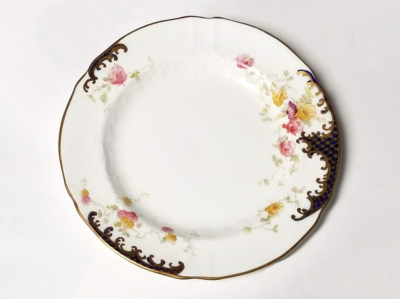 British Tea Plates Set of 6 Hand Painted Circa 1896 England