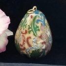 Cloisonné Bell Pendant Egg-Shaped Vintage Charm