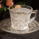 Cape Cod Cup and Saucer by Imperial Glass Crystal Clear