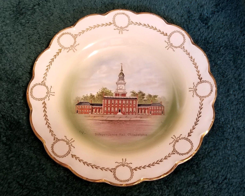Independence Hall Philadelphia Plate Johnson Bros England