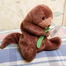 TY Seaweed the Otter Beanie Baby PVC Pellets 1996