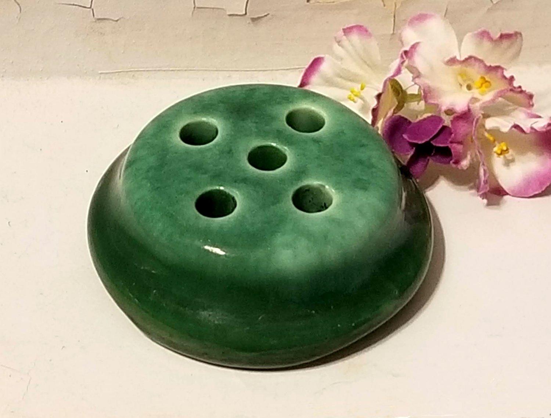 Vintage Pottery Flower Frog