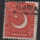 PAKISTAN 1949/53 - Scott 49 used  - 2a, Star & Crescent (6-554)