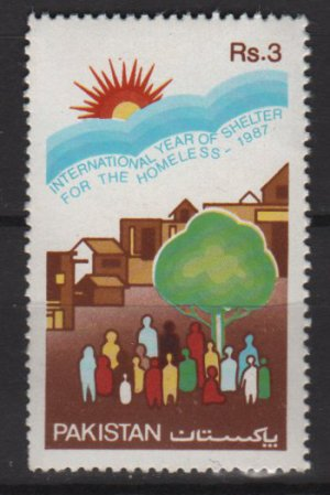 Pakistan 1987  - Scott  687 MH - International Year of Shelter for the homeless (6-579)