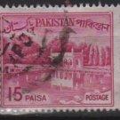 PAKISTAN 1963/70 - Scott 135B used - 15p,  Shalimar Gardens, Lahore (6-595)