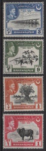 Pakistan BAHAWALPUR 1949 - Scott 22 - 25, set of 4 MH - Silver Jubilee, Amit K  (6-613)