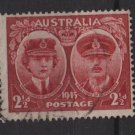 Australia 1945  - Scott 197 used - 2.1/2p, Duke & Duchess of Gloucester  (S-620)