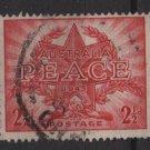 Australia 1946  - Scott 200 used - 2.1/2p,  end of WWII, peace (S-621)