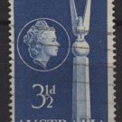 Australia 1955  - Scott  280  used - 3.1/2p, Friendship with the US  (S-629)