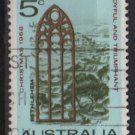 Australia 1968  - Scott  445 used - 5p, View of Bethlehem, Christmas (T-722)