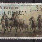 Australia 1986  - Scott  984  used - 33c, Horses (T-732*)