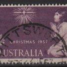Australia 1957 - Scott 307 used -  4p, Christmas (6-649)