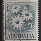 Australia 1959/64 - Scott 327 used - 2sh, Flannel Flower (6-653)