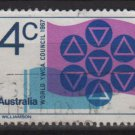 Australia 1967  - Scott  427 used -  4c, YWCA emblem (6-661)