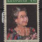Australia 1991  - Scott 1210 used - 43c, Queen Elizabeth 65th Birtdhay (6-671)