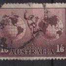 Australia, Airmail,  1937  - Scott  C5 used -  1sh6p, Mercury & Hemispheres (6-678)