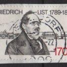 Germany 1989 - Scott 1583 used - 170pf, Friedrich List, economist  (E-572)