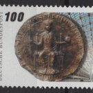 Germany 1990 - Scott 1596 MNH -  100pf,  Seal of Frederick II  (7-58)