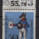 Germany semi-postal 1966  - Scott  B417  used - 50 + 25 pf, Prussian Letter Carrier (7-90)