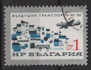 Bulgaria  1965  - Scott  1456  CTO  -  1s, development of civil air transport  (7-277)