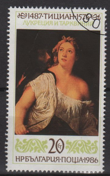 Bulgaria 1987 - Scott 3217 used - 20s, paintings by Titian  (8-94)