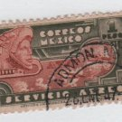 Mexico Airmail  1944/46 - Scott C139 used - 1p, Eagle man & plane type of '34 (6-493)