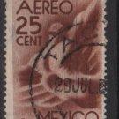 Mexico  Airmail  1944 - Scott C141 used - 25c, Symbol fo flight (7-316)