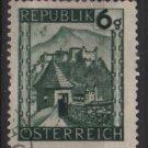 Austria 1945/46  -  Scott  458 used -   6g, Scenic View,  Hohensalzburg (8-439)